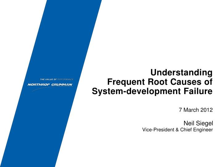 understanding frequent root causes of system development failure n.