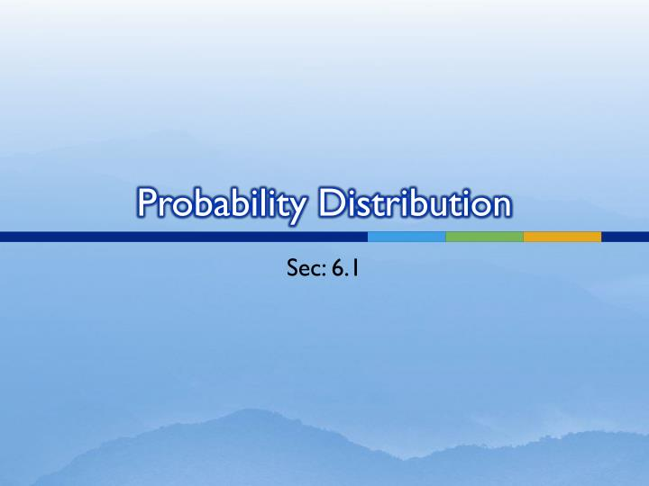 probability distribution n.