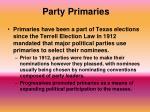 party primaries