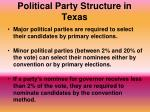political party structure in texas1