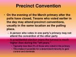 precinct convention