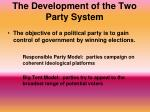 the development of the two party system1