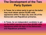 the development of the two party system3