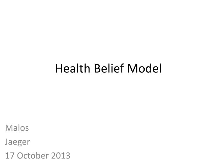 health belief model n.