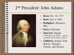 2 nd president john adams