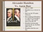 alexander hamilton vs aaron burr