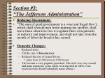 section 3 the jefferson administration