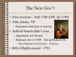 the new gov t