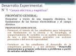 desarrollo experimental n 1 campos el ctricos y magn ticos