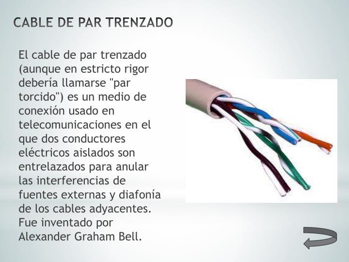 Cable de par trenzado