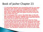 book of jasher chapter 23