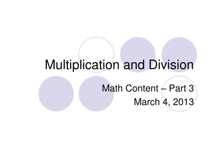 multiplication and division n.