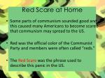 red scare at home