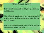 the arms race1