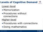 levels of cognitive demand