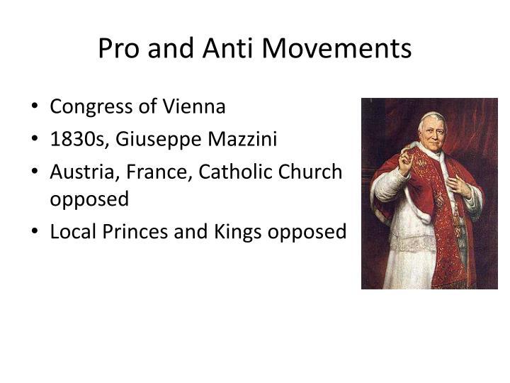 Pro and anti movements