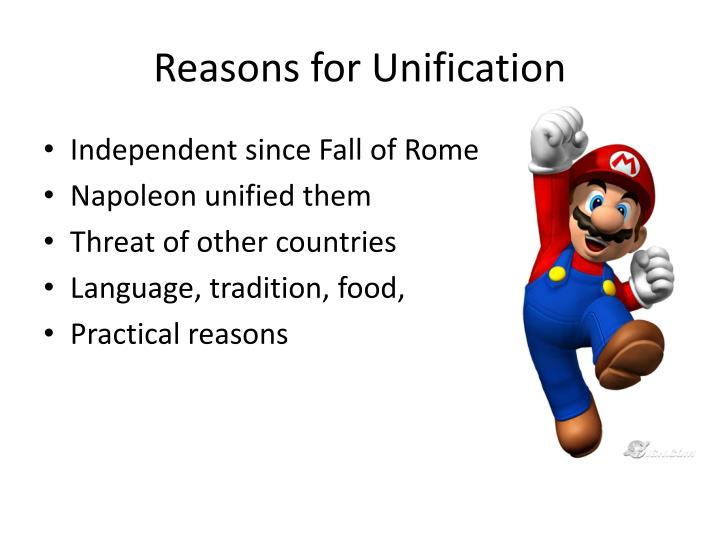 Reasons for unification