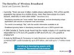 the ben e fits of wireless broadband social and economic ben e fits