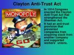 clayton anti trust act