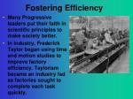 fostering efficiency