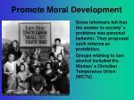 promote moral development