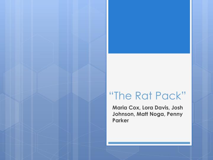 the rat pack n.