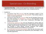 special case co branding