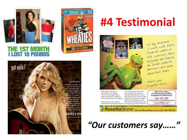 #4 Testimonial