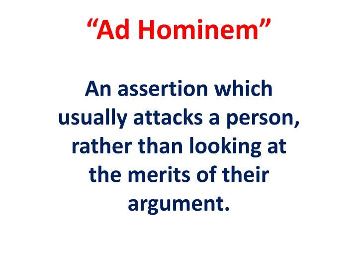 """Ad Hominem"""