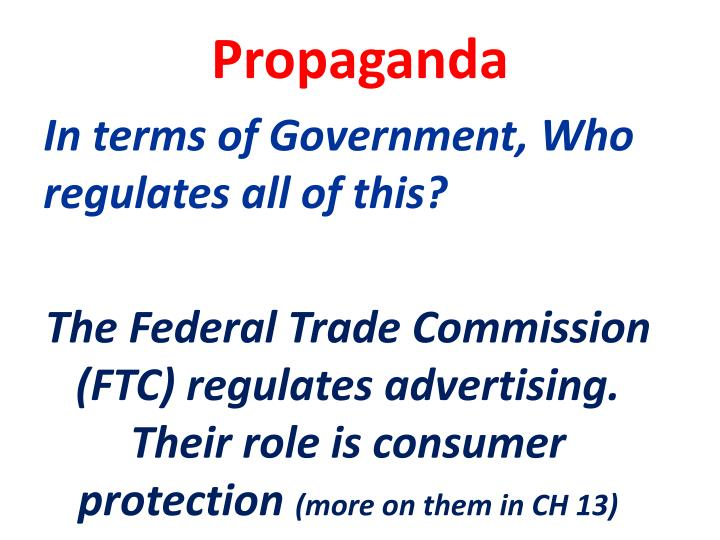 In terms of Government, Who regulates all of this?