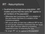 irt assumptions6