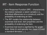irt item response function