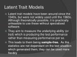 latent trait models