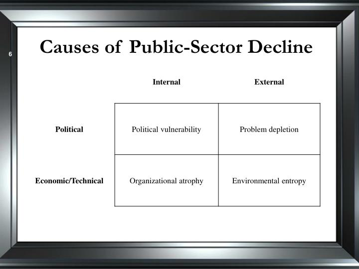 Causes of Public-Sector Decline