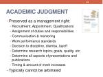 academic judgment