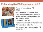 enhancing the pd experience vol 2