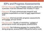 idps and progress assessments