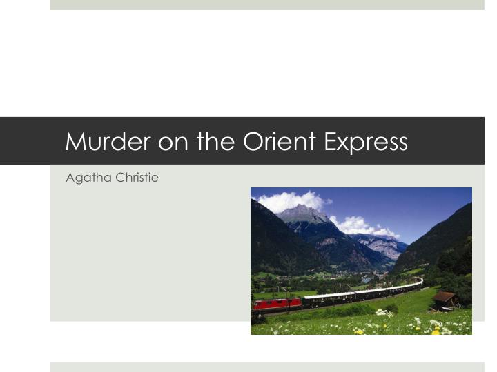 murder on the orient express n.
