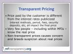 transparent pricing