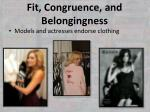 fit congruence and belongingness4