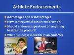 athlete endorsements