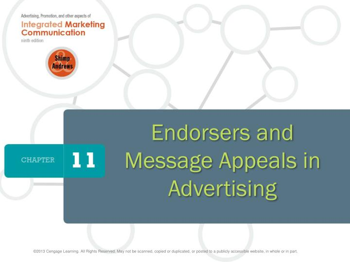 endorsers and message appeals in advertising n.