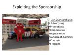 exploiting the sponsorship