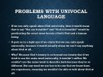 problems with univocal language