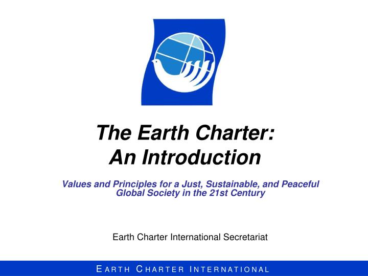 the earth charter an introduction n.