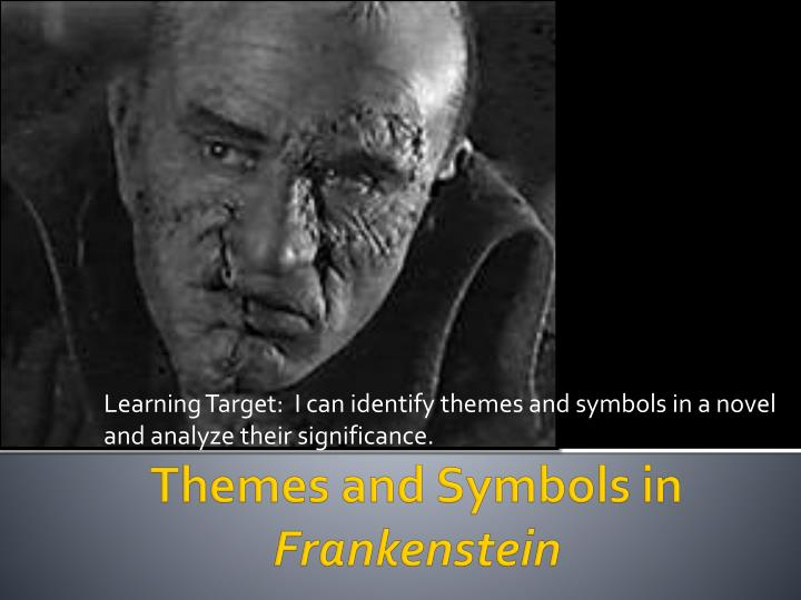 learning target i can identify themes and symbols in a novel and analyze their significance n.