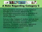a note regarding category c