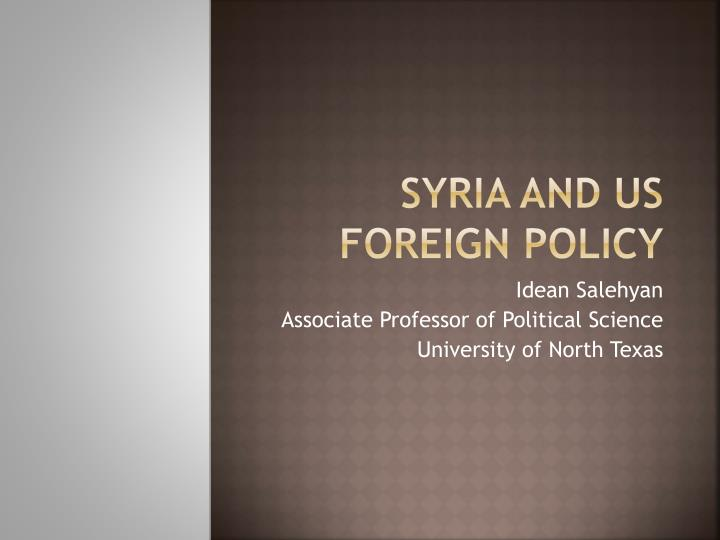 syria and us foreign policy n.
