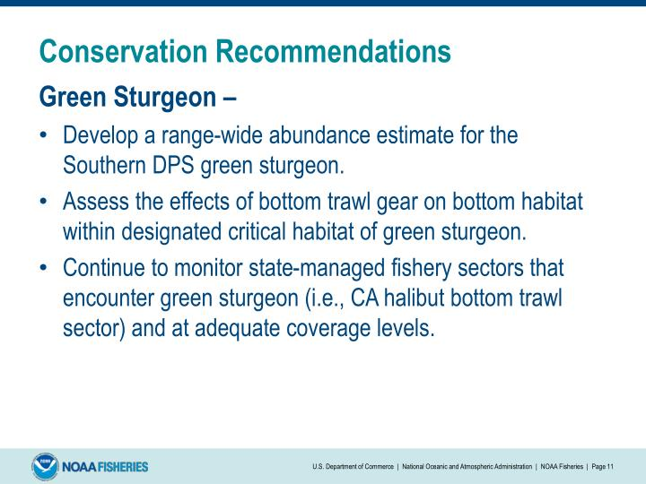 Conservation Recommendations