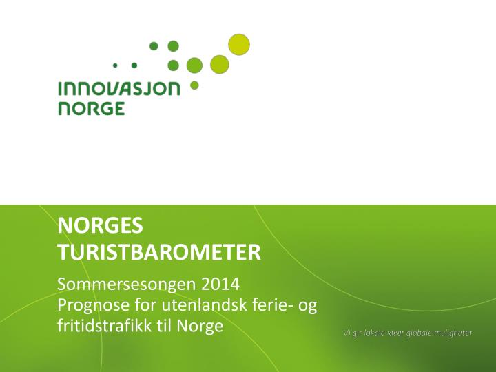 norges turistbarometer n.